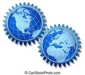 europa, américa, norte, empresa / negocio