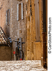 europa, cidade, bicicleta, sulista, rua, antigas