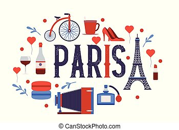 europa, ciudad, parisiense, parís, croissant, eiffel, ...