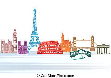 europa, denkmäler