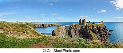 europa, escocia, castillo de dunnottar