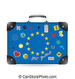 Europa flag on bag