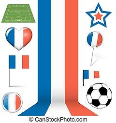 europa, francia, futbol, colección, iconos