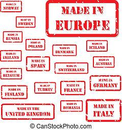 europa, francobolli, fatto