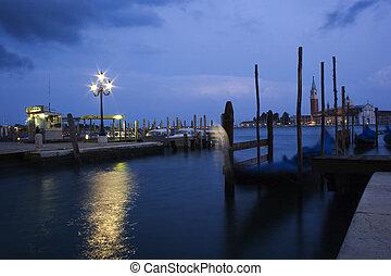 europa, giorgio, kanal, venedig, italien, zurück, gondeln, ...