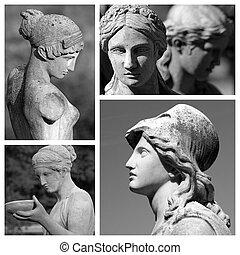 europa, hecho, esculturas, clásico, italia, colección, hembra, imágenes, florencia