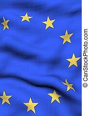 europa, immagine, bandiera