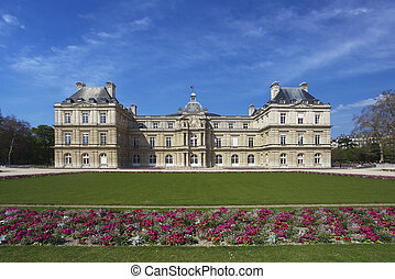 europa, jardín, palacio, parís, luxemburgo, francia