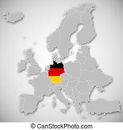 Europa Karta Tyskland Europa Karta Medborgare Markerad