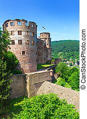 europa, kasteel, duitsland, heidelberg