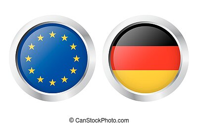 europa, land, +, -, duitsland, sticker: