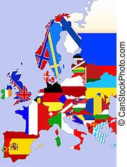 europa, landkarte