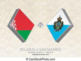 europa, liga, d, belarus, grupo, san, fútbol, competition., ...