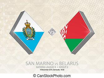 europa, liga, d, grupo, san, belarus, fútbol, competition., ...