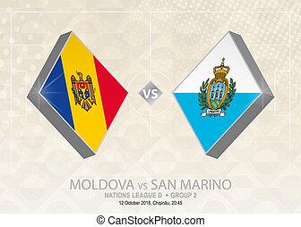 europa, liga, d, grupo, san, fútbol, competition., moldova, ...