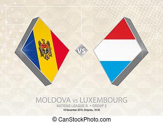 europa, liga, d, luxemburgo, grupo, fútbol, competition., ...
