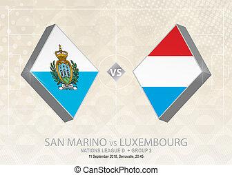 europa, liga, d, luxemburgo, grupo, san, fútbol, competition...
