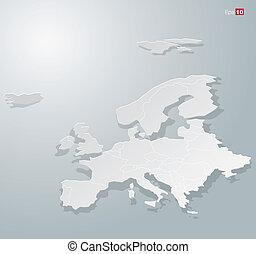 europa, mapa, abstratos, papel, infographics