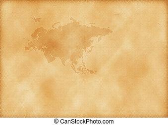 europa, mapa, antigas, ásia