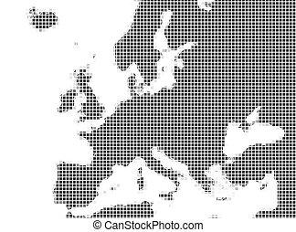 europa, mappa, mozaic