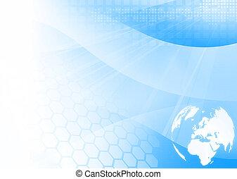 europa, mappa, technology-style, grafica