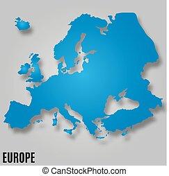 europa, mappa, vettore