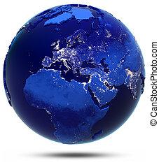 europa, midden-oosten, en, afrika, continent, en, landen