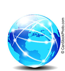 europa, och, afrika, global