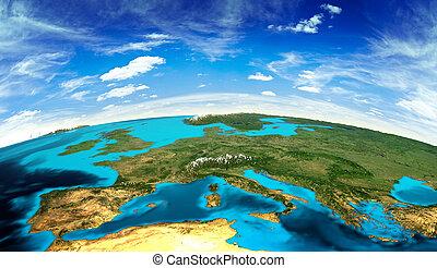 europa, paisagem, espaço