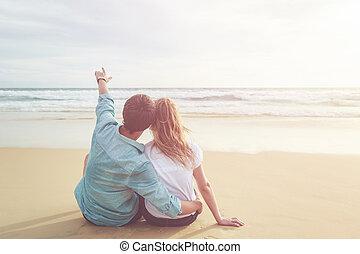 europa, phuket, turista, gente, pareja, relajar, o,...
