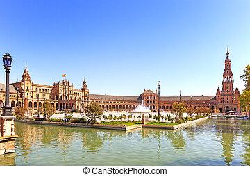 europa, plaza, sevilla, de, andalucía, españa, espana