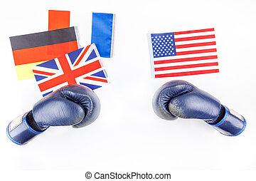 europa, pojęcie, konfrontacja, usa, między