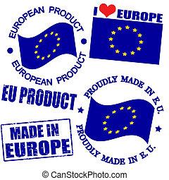 europa, producto, sellos