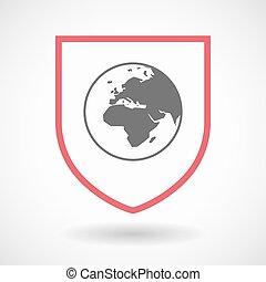 Europa, protector, globo,  áfrica, aislado, regiones,  Asia, mundo