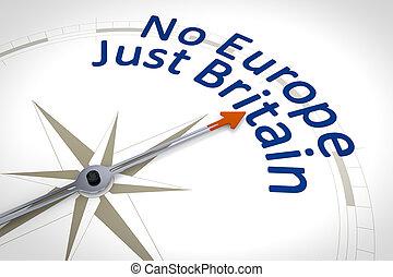 europa, sólo, no, texto, gran bretaña, compás