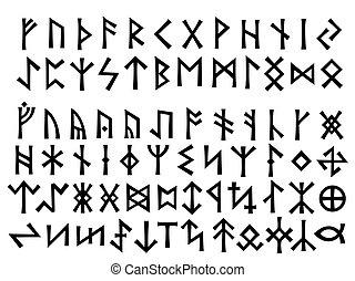 europa, settentrionale, runes, sambuco, altro, futhark