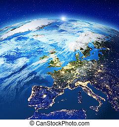 europa, stadslichten