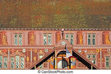 europa, stadt, mulhouse, frankreich, renaissance, elsaß, ...