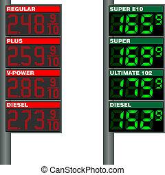europa, stazioni, benzina, prezzo, gas, tavola, stati uniti.