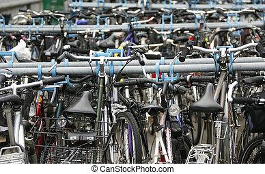 europa, szwajcaria, lucerna, dużo, od, rowery, w, przedimek określony przed rzeczownikami, parking, dla, rowery