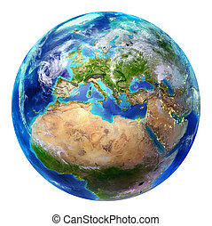 europa, tierra, -, aislado