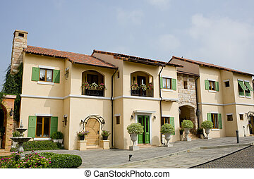 europa, toscana, casa, italia, windows, stile, balcone