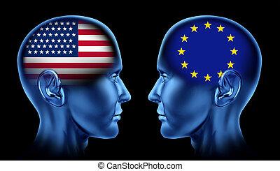 europa, u. s. een, handel