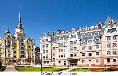 europa, ukraina, kijów, stara architektura