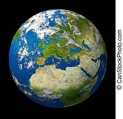 europa, unie, planeet land, het voorkomen, europeaan