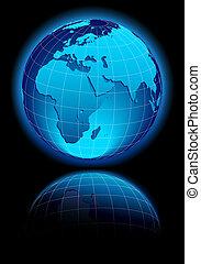 europa, värld, öster, afrika, mitt