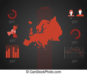 europa, världen kartlägger