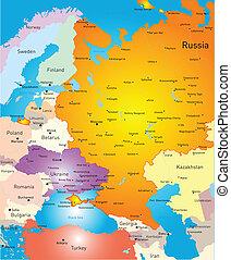 europa, väst, karta