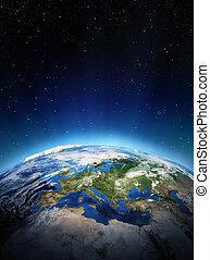 europa, van, ruimte