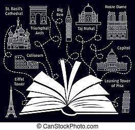 europa, viaje, libro, guía